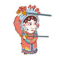 原创京剧人物亮剑