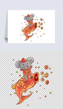 原创手绘新年福鼠