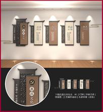 中式木质廉政文化墙设计