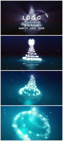 唯美粒子圣誕節AE視頻模板