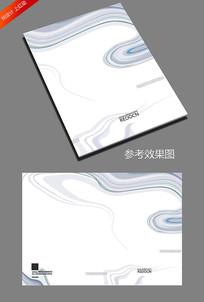 简约灰色商务封面设计模板