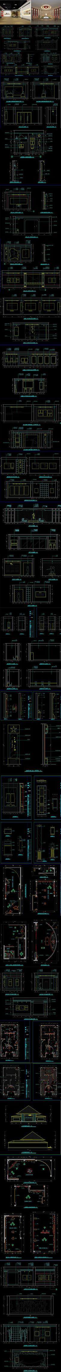 某纪念馆CAD施工图 效果图