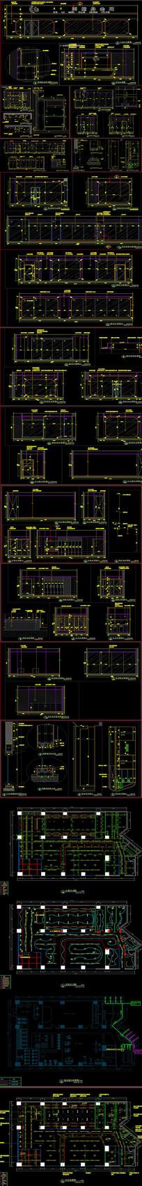 全套时尚健身房CAD施工图