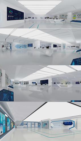 现代企业 电子商务展厅3DMAX