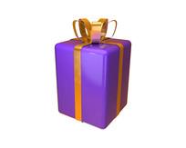 原创圣诞促销紫色礼盒