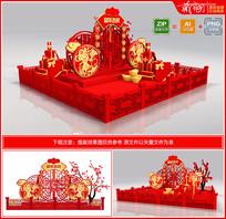 2020鼠年布置美陈春节商场氛围