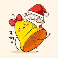 抱着铃铛的圣诞老人