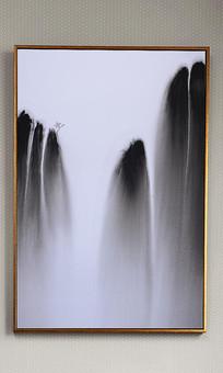 中式写意山水油画