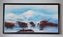 抽象山水油画壁画