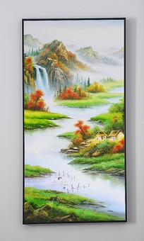 山水流水生财装饰画