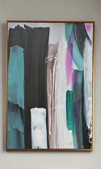 新中式抽象油画