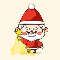 原创圣诞老人表情图片
