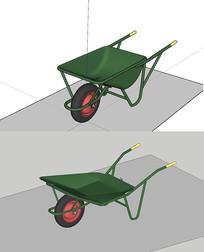2款独轮车三维模型
