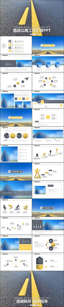 高速公路道路建设中国公路PPT