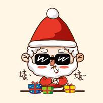 圣诞老人抽烟图片