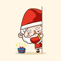 圣诞老人送礼物图片