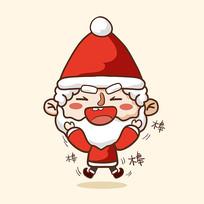 圣诞老人原创卡通