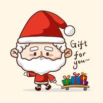 原创圣诞老人卡通图片