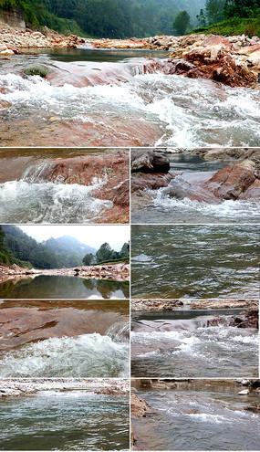4K原创实拍清澈小溪河流视频素材
