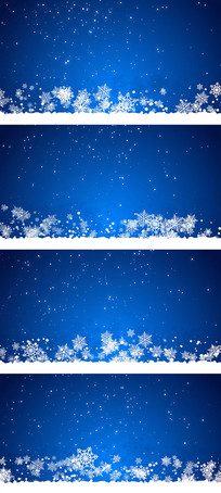 白色粒子雪花背景视频素材