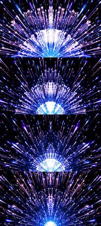 炫彩粒子发散开场视频素材