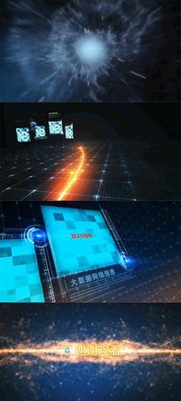 大气震撼动感光线科技图文头AE模板