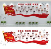 中国历次党代会展厅文化墙设计