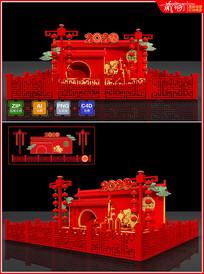 2020鼠年春节美陈小场景