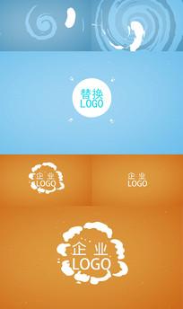 卡通流体企业LOGO演绎PR模板
