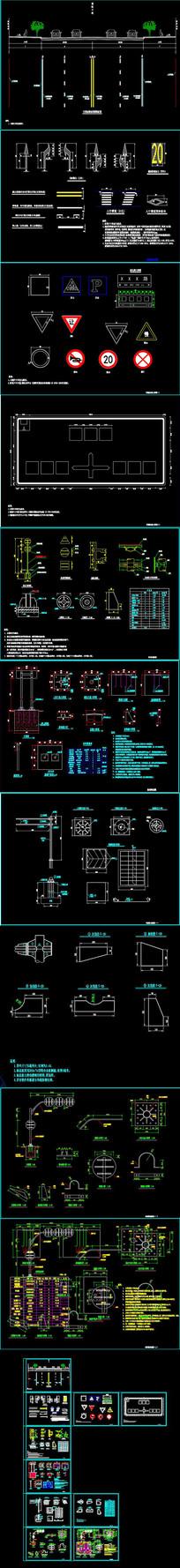 标线、标版大样图、结构图CAD图库