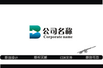 b箭头创意logo