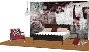 复古卧室软装设计