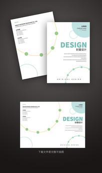 简洁画册封面设计模板