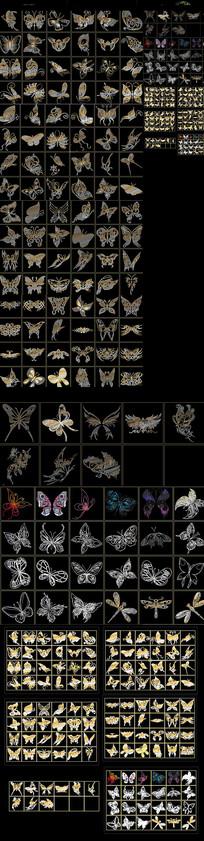金蝴蝶CAD图库
