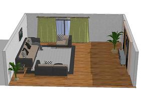 客厅软装场景模型