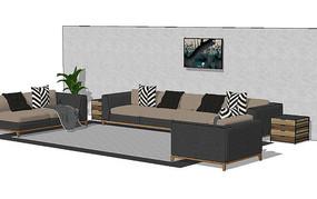 客厅沙发软装
