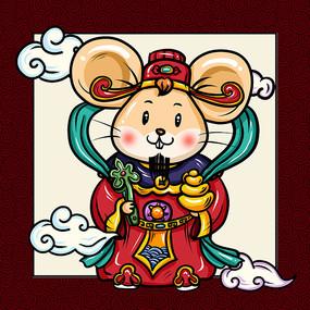 老鼠卡通表情设计 PSD