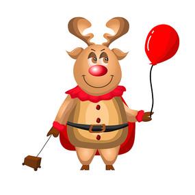圣诞老人的驯鹿图片 AI