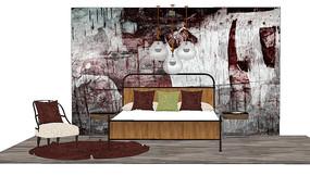 深色复古卧室
