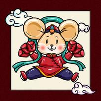 鼠年卡通造型设计