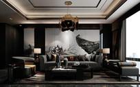 新中式客厅 沙发3D模型