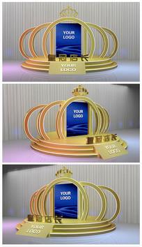 原创皇冠舞台效果图模型