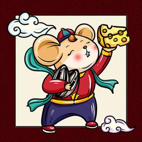 原创中国老鼠卡通造型 PSD