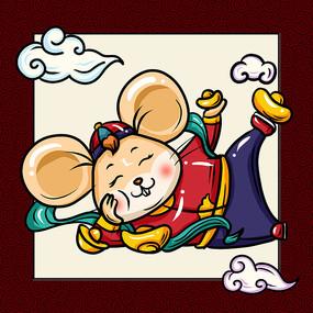 中国风老鼠卡通图片 PSD