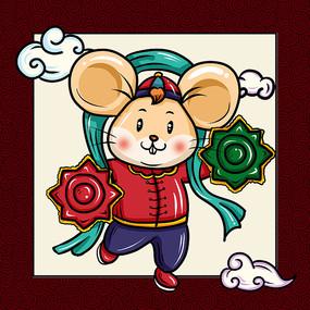 中国风新年老鼠 PSD