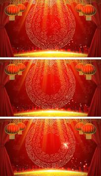 春节联欢晚会家主题动态背景视频素材
