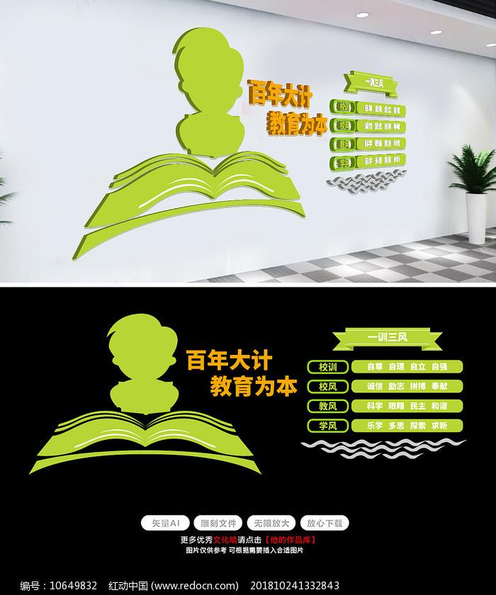 师德师风校园文化墙学校教室走廊布置图片