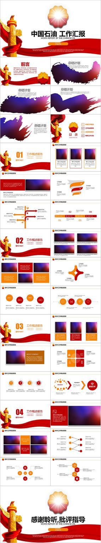 中国石油中石化中海油油田油井PPT模板