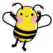 原创手绘super蜜蜂