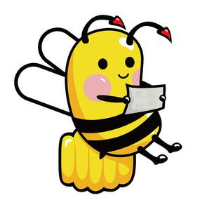 原创元素手绘看地图蜜蜂 AI